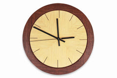 Jarrah and Ash Round Wall Clock