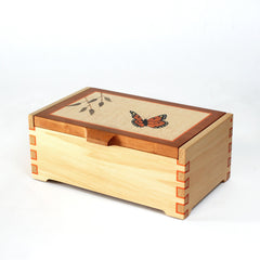 Monarch Butterfly Marquetry Box