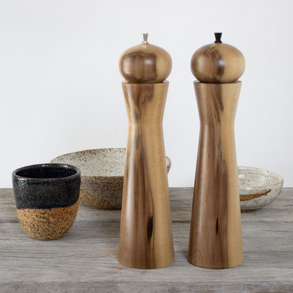 Picture of Large Orb Salt & Pepper Mills in Huon Pine