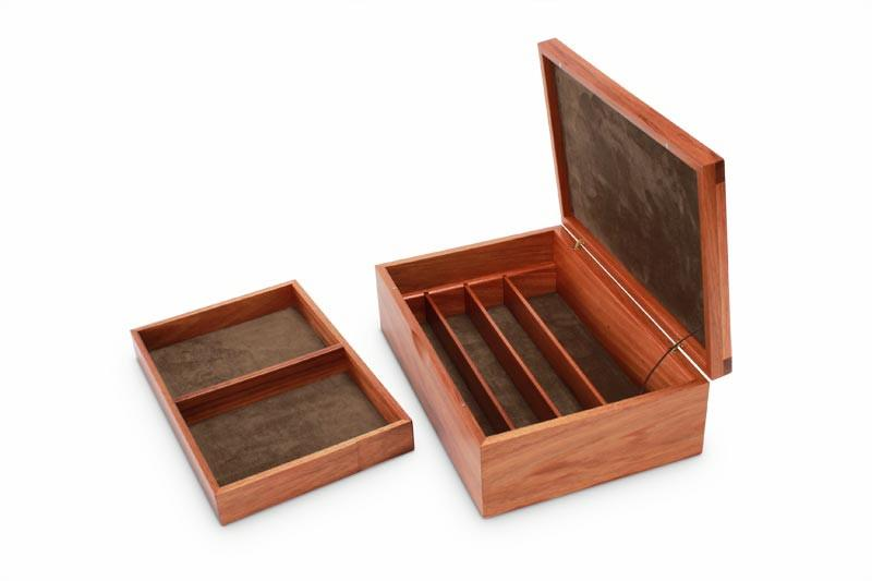 Removable tray next to a Tamar Blackwood Watch Box