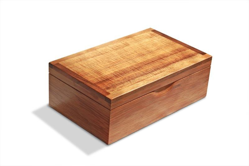 Closed Tamar Large Blackwood Jewellery Box with Tray