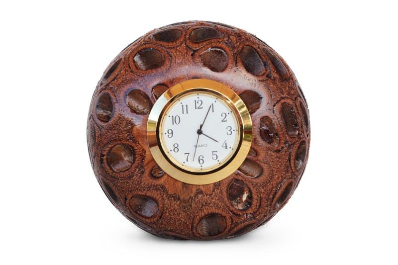 Picture of a Tony Desk Clock in Banksia timber