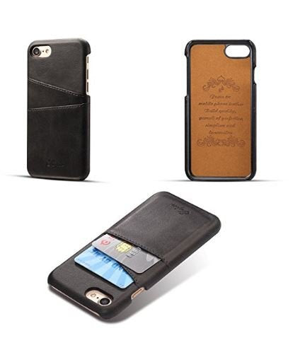 Iphone Leather Wallet Case with Credit Card Slots: For Iphone 7/7+,8/8+,X