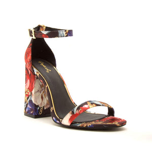 """Carisa"" Colorful ankle Strap Block Heel Sandals"