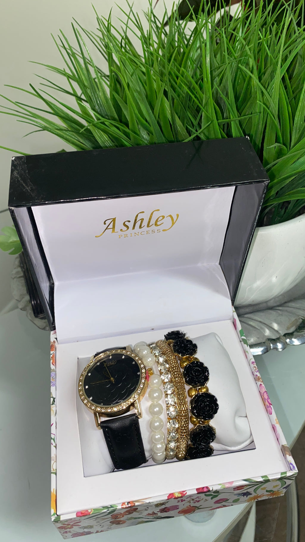Black Womens 4 piece Watch Set