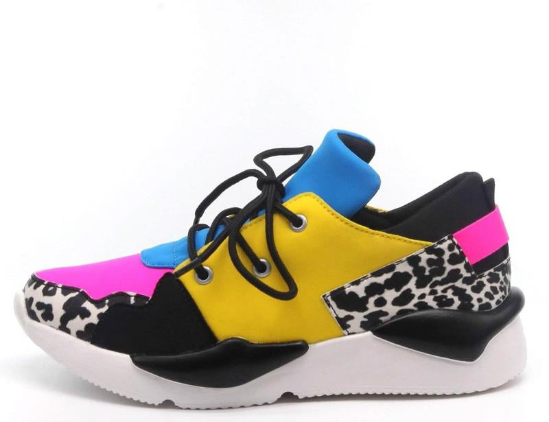 """Dream"" Multicolored Flat Sneakers"