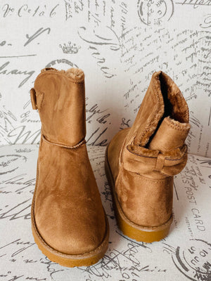 """Bronx"" Warm Ankle Boots- Tan"