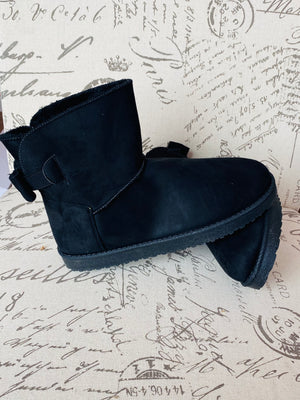 """Bronx"" Warm Ankle Boots- Black"