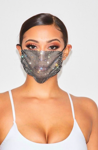 Crystal Face Mask Cover
