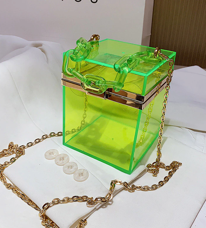 """Jayda"" Box Acrylic Clutch Bag"