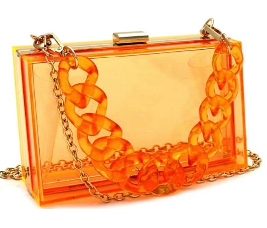 """Suki"" Rectangle Acrylic Clutch Bag"