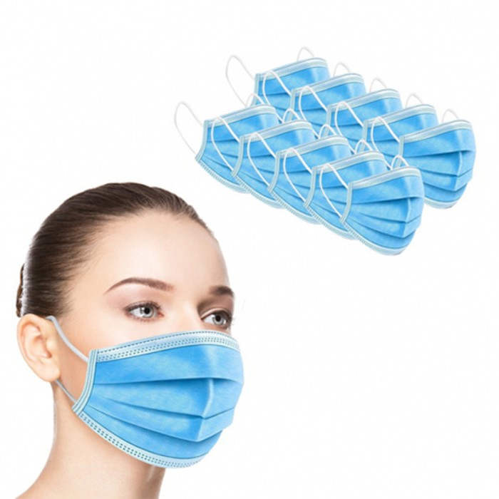 20-Pack 3-Ply Disposable FDA/CE Approved Sanitary Earloop Face Mask