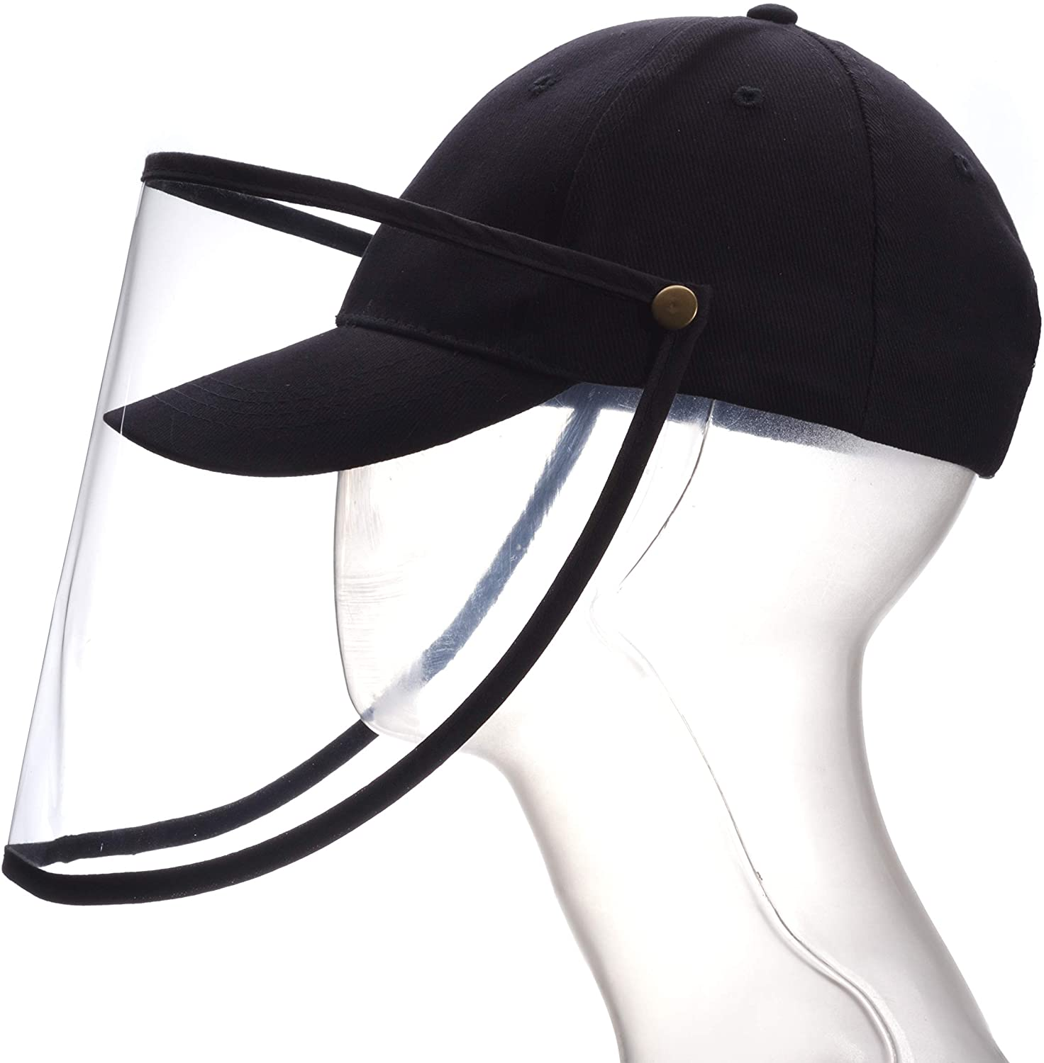 Baseball Cap with Full Face Protective Shield with Removable Protection Plate, Windproof Dustproof, Anti Spitting Safety Sun Hat