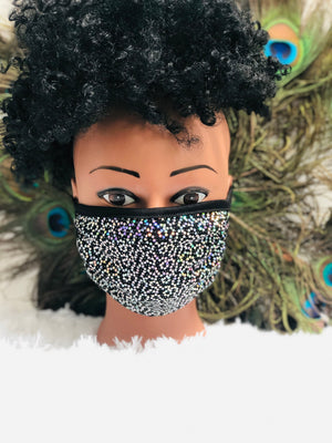 Sequined cloth Mask