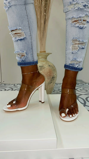 """Daline"" Thang Toe Heeled Sandals"