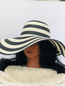 """Margo"" Large Brim Beach Hat"