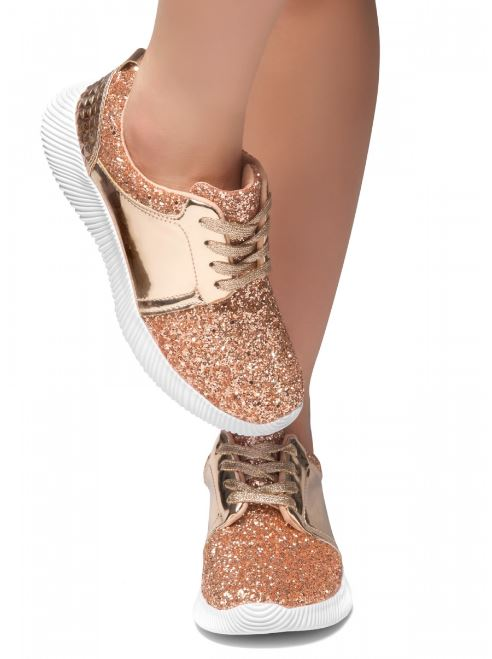"""Tina"" Glitter lace up sneakers"