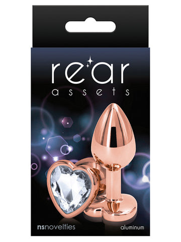 REAR ASSETS ROSE GOLD BUTT PLUG WITH HEART