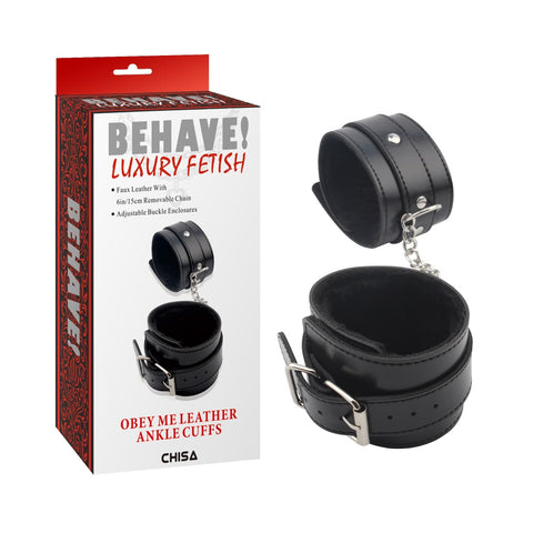 BEHAVE OBEY ME ANKLE CUFFS