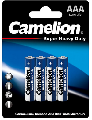 AAA BATTERIES CAMELION