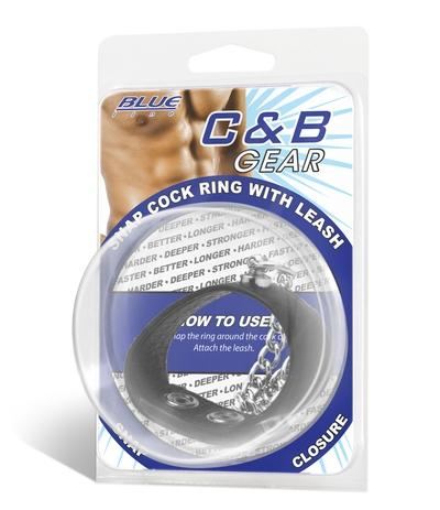 C & B GEAR - SNAP COCK RING WITH LEASH