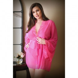 CURVE HALEY PINK LACE ROBE