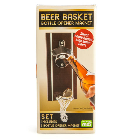 BEER BASKET BOTTLE OPENER MAGNET