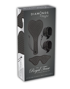 DIAMONDS - THE ROYAL TEASE 3 PIECE FETISH KIT by PLAYFUL