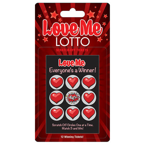 LOVE ME LOTTO SCRATCHER