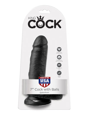 "KING COCK 7"" COCK WITH BALLS"
