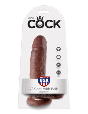 KING COCK - 7 INCH COCK WITH BALLS