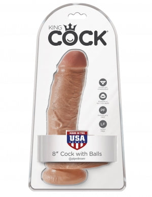 KING COCK - 8 INCH COCK WITH BALLS