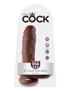 "KING COCK 8"" COCK WITH BALLS"