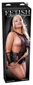 FETISH FANTASY LINGERIE PHAROAHS SLAVE BLACK OUTFIT - QUEEN SIZE