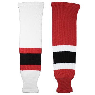 New Jersey Devils Knit Hockey Socks (TronX SK200)