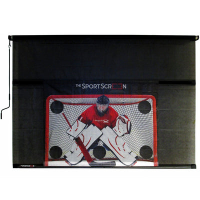 SportScreen Manual Garage Door Screen w/ Detachable Hockey Target (10ft)