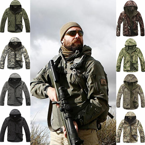 Men's Camouflage Hunting Clothes Military Suit