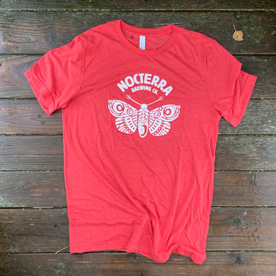Tshirt - Moth - Unisex - Red