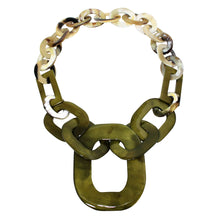 Load image into Gallery viewer, Buffalo Horn Necklace in Dye Lacquer Color - Many Colors Available