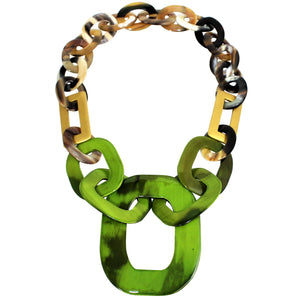 Buffalo Horn Necklace in Dye Lacquer Color - Many Colors Available - DIDAJ