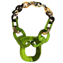 Load image into Gallery viewer, Buffalo Horn Necklace in Dye Lacquer Color - Many Colors Available - DIDAJ