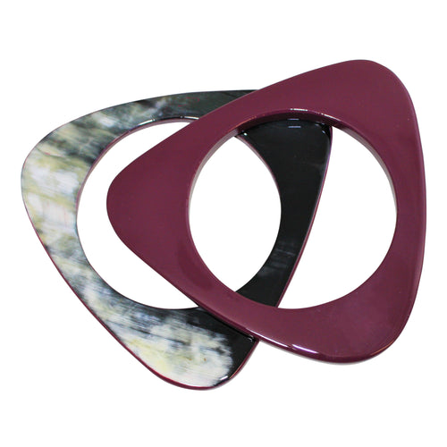 3 Shapes Buffalo Horn Bracelet In Lacquer Color - DIDAJ