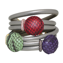 Load image into Gallery viewer, Italian Wrap Leather Bracelet With Exotic Leather Connectors - DIDAJ