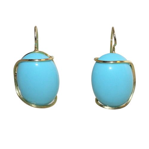 Italian Turquoise Earrings