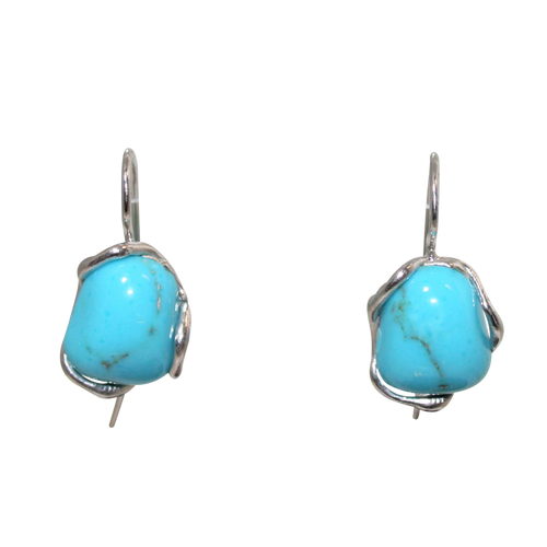 Italian Stylish Turquoise Earrings