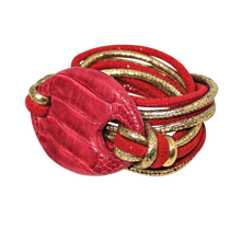 Load image into Gallery viewer, Italian Wrap Leather Bracelet With Ostrich Legs Buckle - DIDAJ