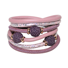 Load image into Gallery viewer, Italian Wrap Leather Bracelet With Stingray Beads - DIDAJ