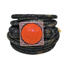 Load image into Gallery viewer, Italian Wrap Leather Bracelet With Stingray in CZ Buckle - DIDAJ