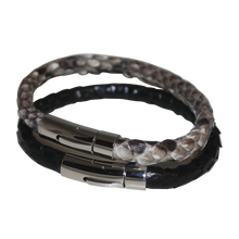 Load image into Gallery viewer, Men's Genuine Python Leather Bracelet
