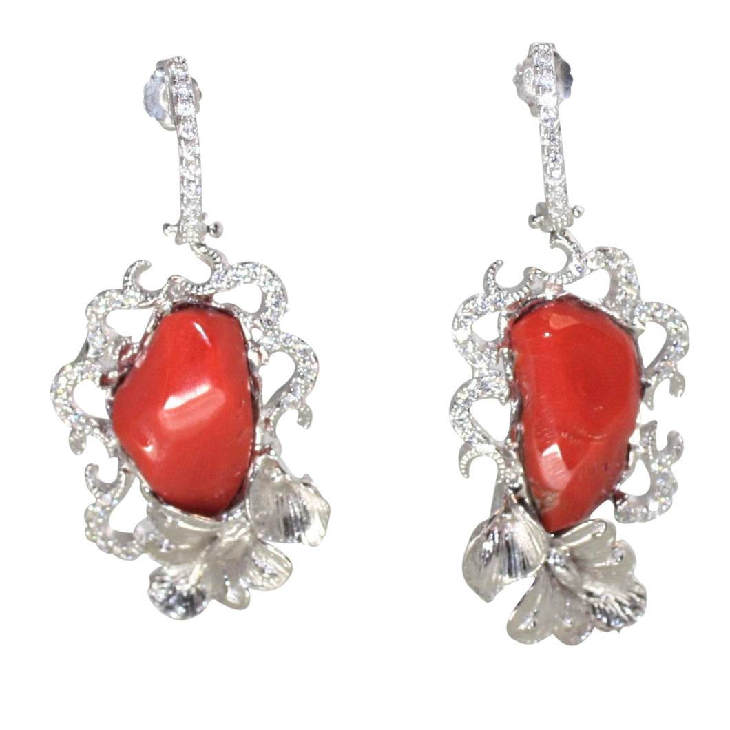 Italian Coral Earrings - DIDAJ